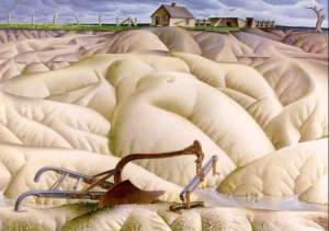 """Alexandre Hogue, """"Mother Earth Laid Bare,"""" 1936, oil on canvas"""