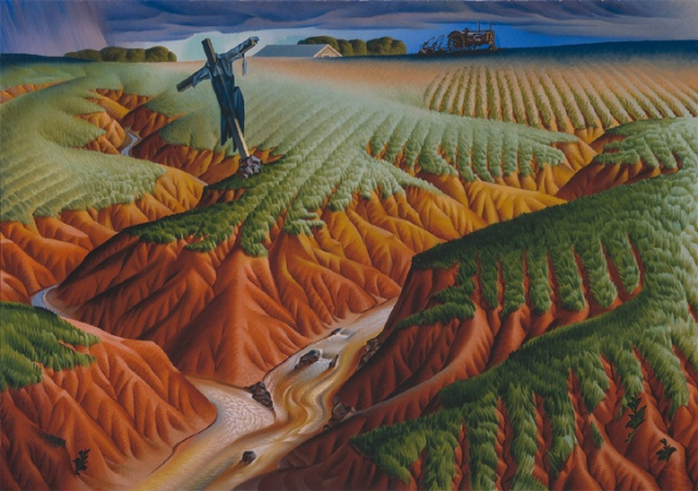 """Alexandre Hogue, """"Crucified Land,"""" 1939, oil on canvas"""