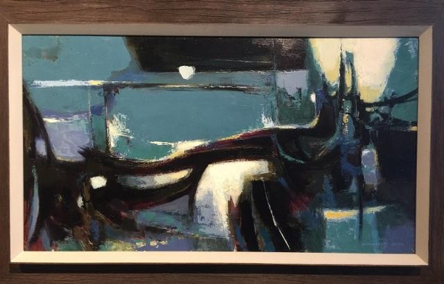 1043.002 Judd, DeForrest-Lake scene, Night